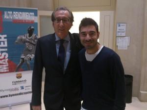 Con Paco Seirul.lo. Director del Máster Alto Rendimiento en Deportes Colectivos FC Barcelona.